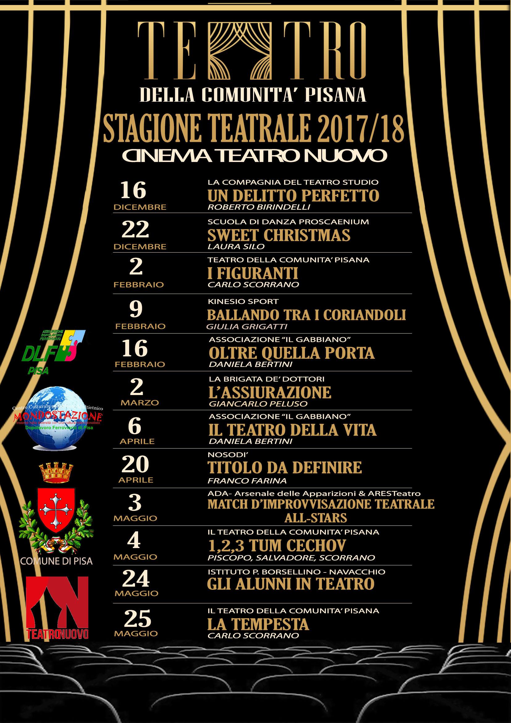 Cartellone 2017/2018 del TEATRO DELLA COMUNITA' PISANA